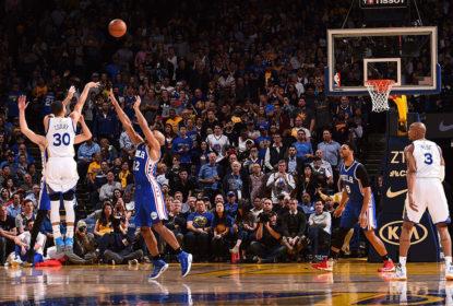 Golden State Warriors se recupera após derrotas e vence o Philadelphia 76ers em casa - The Playoffs