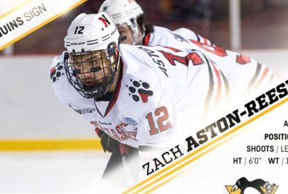 Zach Aston-Reese assina acordo de dois anos com Pittsburgh Penguins - The Playoffs