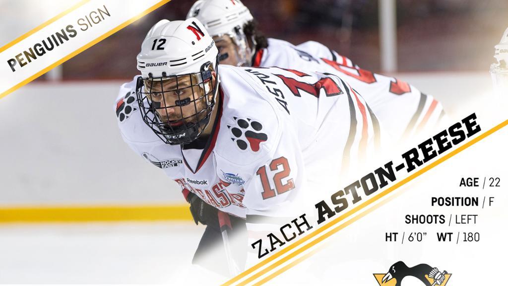 Zach Aston-Reese assina acordo de dois anos com Pittsburgh Penguins