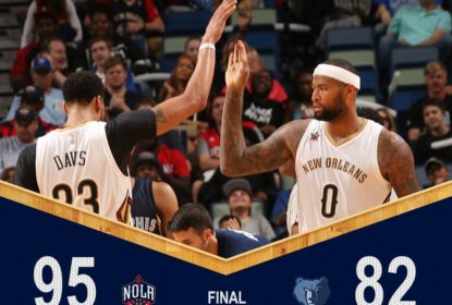 DeMarcus Cousins comanda vitória dos Pelicans contra Grizzlies por 95-82 - The Playoffs