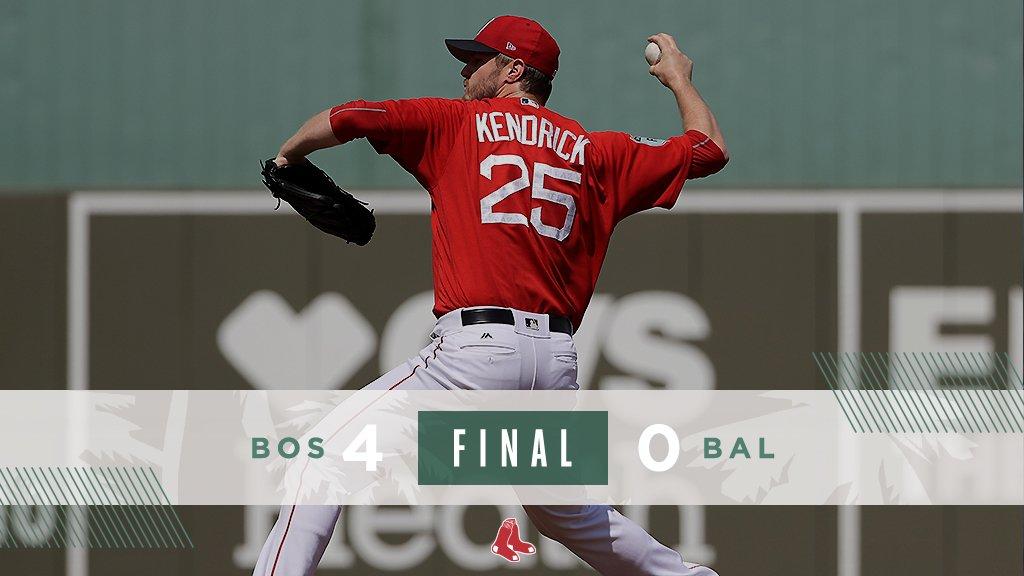 Jogando na Flórida, Boston Red Sox vence Baltimore Orioles por 4 a 0