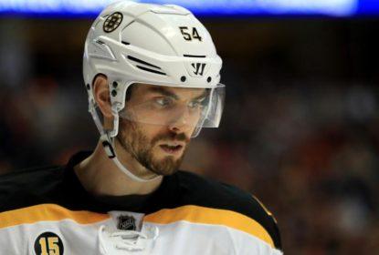 Adam McQuaid é atingido por patins e leva 25 pontos no pescoço - The Playoffs