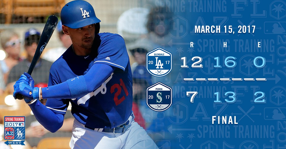 LA Dodgers vence Seattle Mariners por 12 a 7