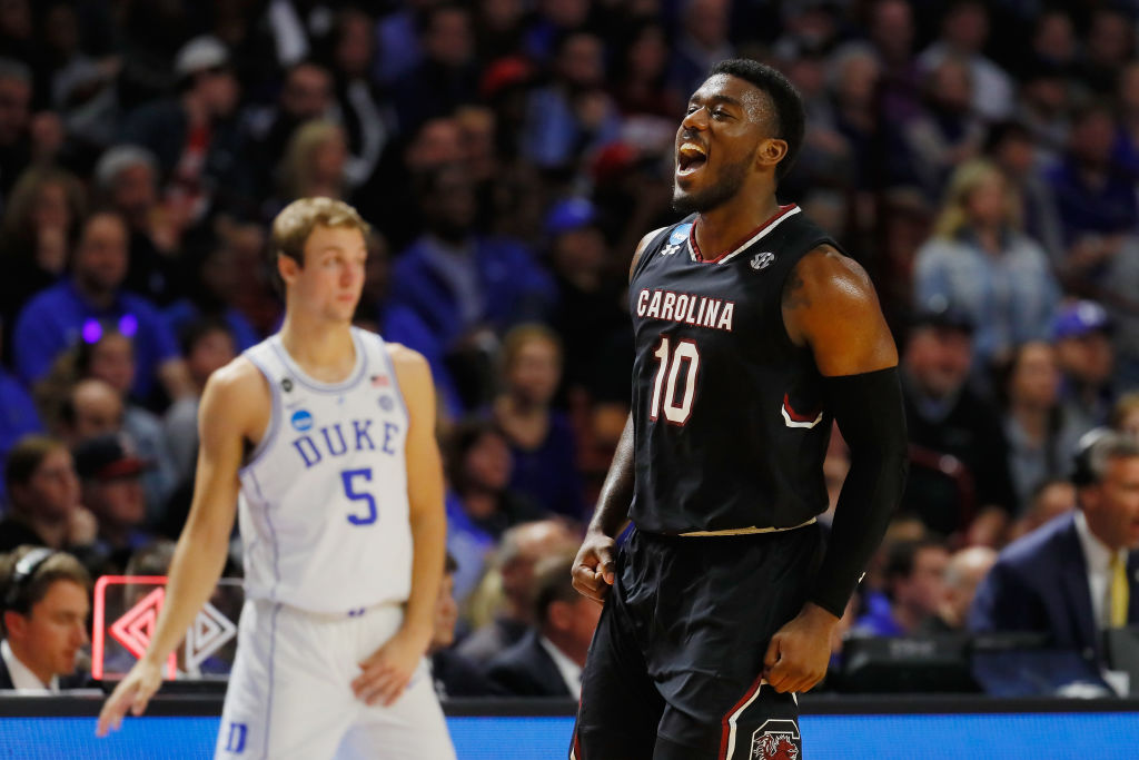 Zebra passeia e South Carolina vence favorita ao título Duke - The Playoffs