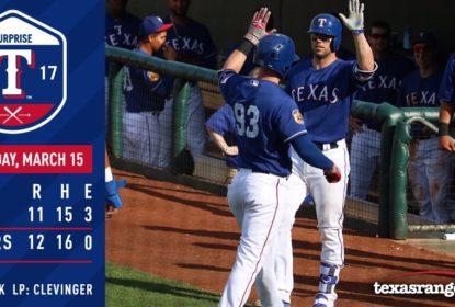 Texas Rangers vence jogo equilibrado contra Cleveland Indians por 12 a 11 - The Playoffs