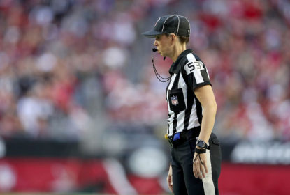 GLENDALE, AZ - DECEMBER 18: Line judge Sarah Thomas #53 walks the field during the NFL game between the New Orleans Saints and the Arizona Cardinals at the University of Phoenix Stadium on December 18, 2016 in Glendale, Arizona.