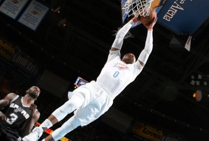 Russell Westbrook lidera OKC Thunder em vitória contra Toronto Raptors - The Playoffs