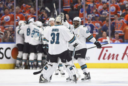 Numa virada sensacional, Sharks derrotam Oilers no Jogo 1 dos playoffs - The Playoffs