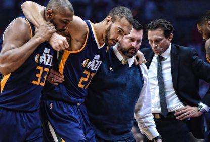 Rudy Gobert está fora de jogo 2 entre Jazz e Clippers e sem previsão de retorno - The Playoffs