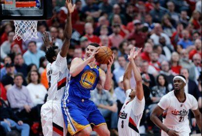 Splash brothers brilham no 2º tempo e comandam virada dos Warriors sobre Blazers - The Playoffs