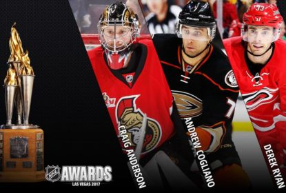 Anderson, Cogliano e Ryan são os finalistas do Masterton Trophy - The Playoffs