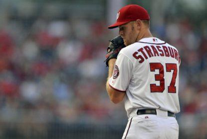 """Stephen Strasburg, do Washington Nationals, é afastado por """"licença paternidade"""" - The Playoffs"""