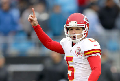 CHARLOTTE, NC - NOVEMBER 13: Cairo Santos #5 celebrates after kicking a game winning field goal to defeat the Carolina Panthers 20-17 during their game at Bank of America Stadium on November 13, 2016 in Charlotte, North Carolina.