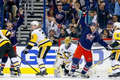 Em jogo de nove gols, Blue Jackets vencem e ainda respiram em série contra Penguins - The Playoffs