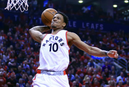 TORONTO, ON - APRIL 24: DeMar DeRozan #10 of the Toronto Raptors dunks the ball in the first half of Game Five of the Eastern Conference Quarterfinals against the Milwaukee Bucks during the 2017 NBA Playoffs at Air Canada Centre on April 24, 2017 in Toronto, Canada.