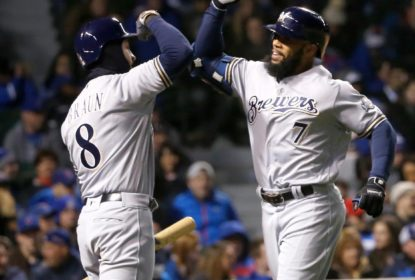Eric Thames iguala recorde e Milwaukee Brewers surpreende Chicago Cubs - The Playoffs