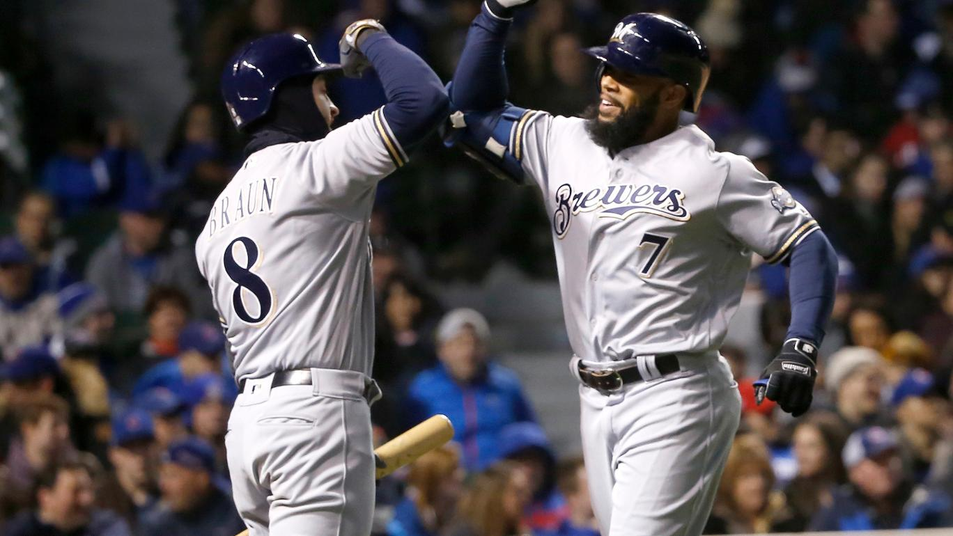 Eric Thames iguala recorde e Milwaukee Brewers surpreende Chicago Cubs