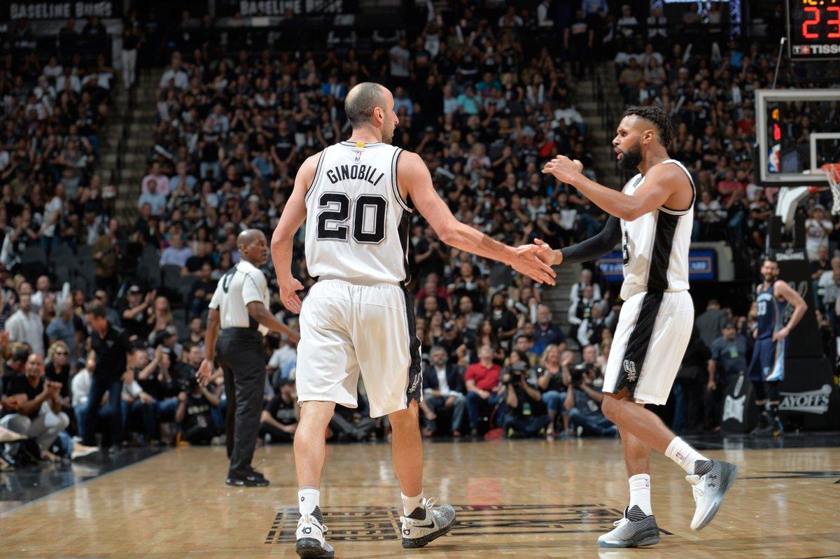 Patty Mills e Manu Ginobili lideram banco na vitória dos Spurs sobre os Grizzlies no Jogo 5
