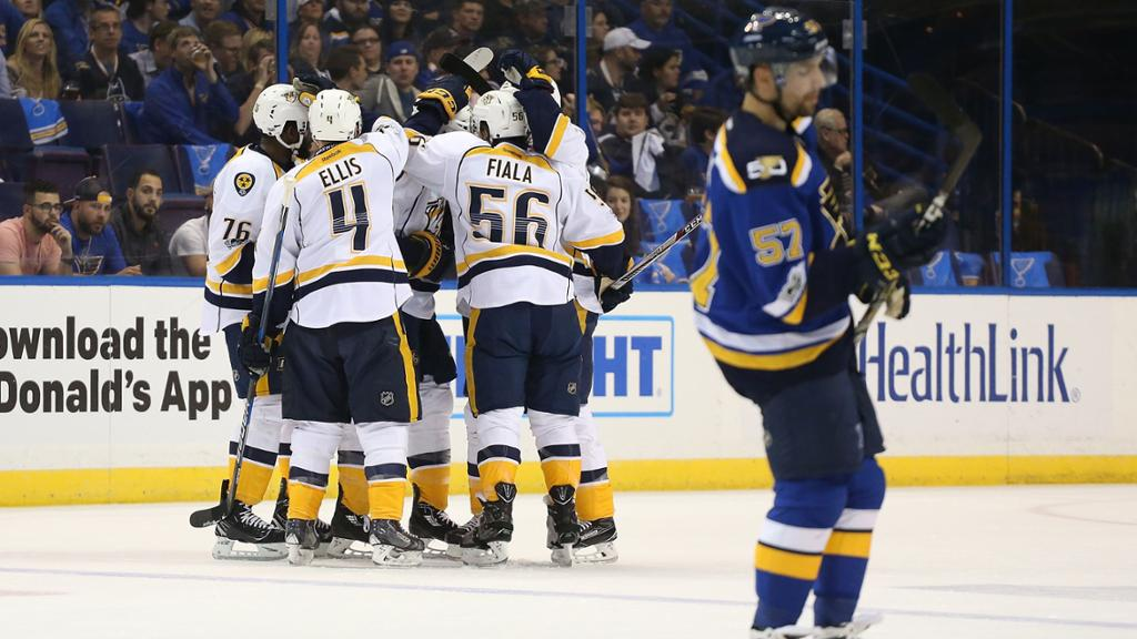 Fiddler decide e Predators derrotam Blues na abertura da 2ª rodada dos playoffs - The Playoffs