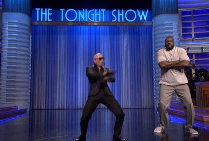 Shaquille O'Neal brilha em disputa com Jimmy Fallon em Lip Sync Battle - The Playoffs