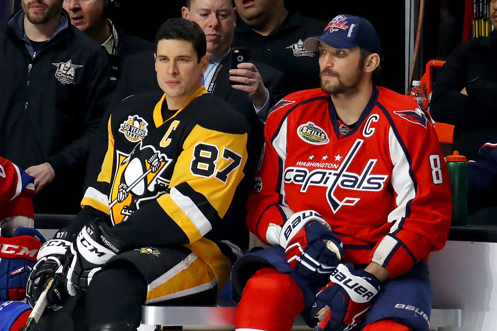 during the 2017 Coors Light NHL All-Star Skills Competition as part of the 2017 NHL All-Star Weekend at STAPLES Center on January 28, 2017 in Los Angeles, California.