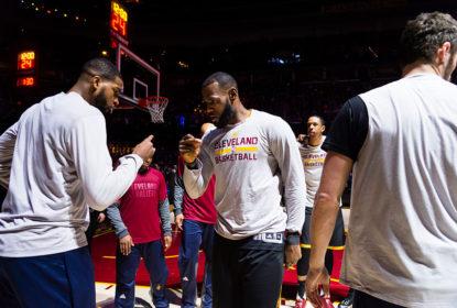 Thompson e LeBron discutem agressivamente no fim do jogo contra os Pacers - The Playoffs