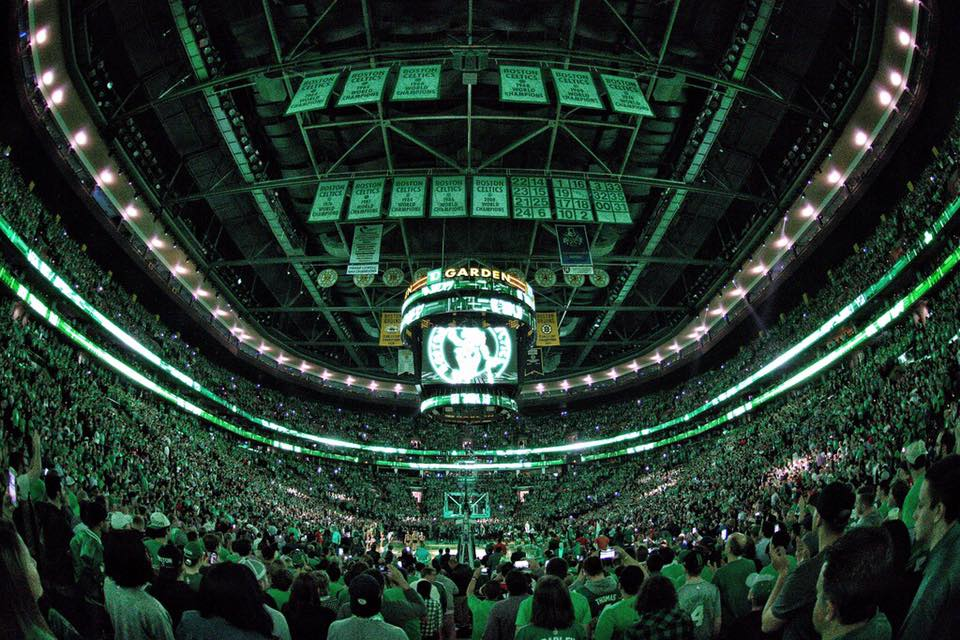 TD Garden, casa doo Boston Celtics, contra os Wizards(