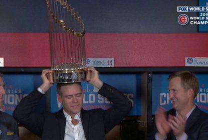 Troféu da World Series dos Cubs é danificado - The Playoffs