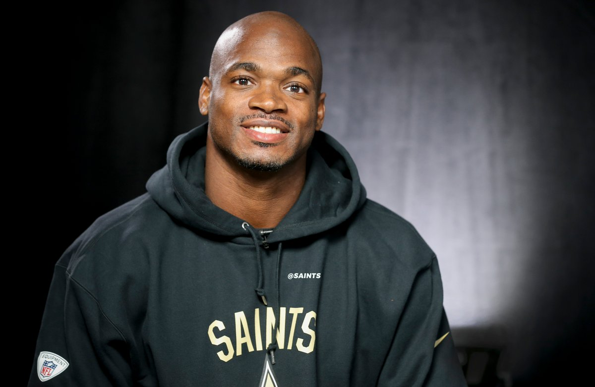 Adrian Peterson é reforço do New Orleans Saints