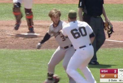 MLB rejeita recurso e Hunter Strickland cumprirá suspensão de 6 jogos por briga - The Playoffs