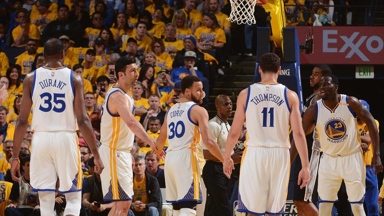 Warriors viram e vencem Spurs no Jogo 1 das finais do Oeste