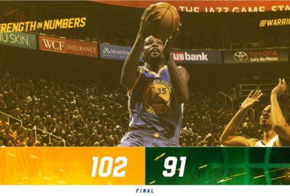 Com grande jogo de Kevin Durant, Warriors fazem 3 a 0 na série contra Jazz - The Playoffs