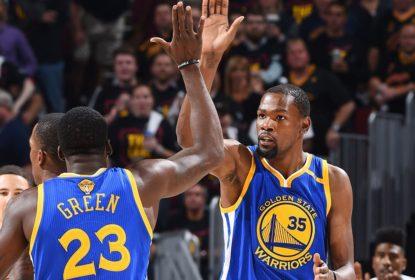 Durant e Green conversam sobre desentendimento contra os Clippers na temporada 2018-19 - The Playoffs