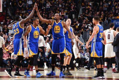 Warriors vencem Cavs, abrem 3 a 0 na série e ficam muito perto do título - The Playoffs