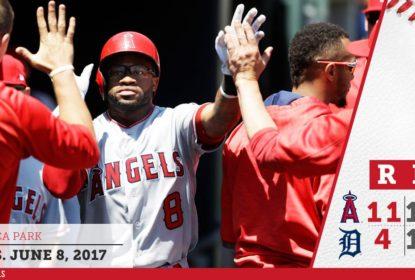 Los Angeles Angels corre atrás de prejuízo e vira a partida sobre Detroit Tigers - The Playoffs