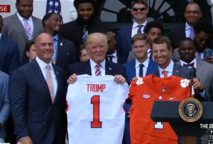 Clemson celebra título do College Football na Casa Branca - The Playoffs