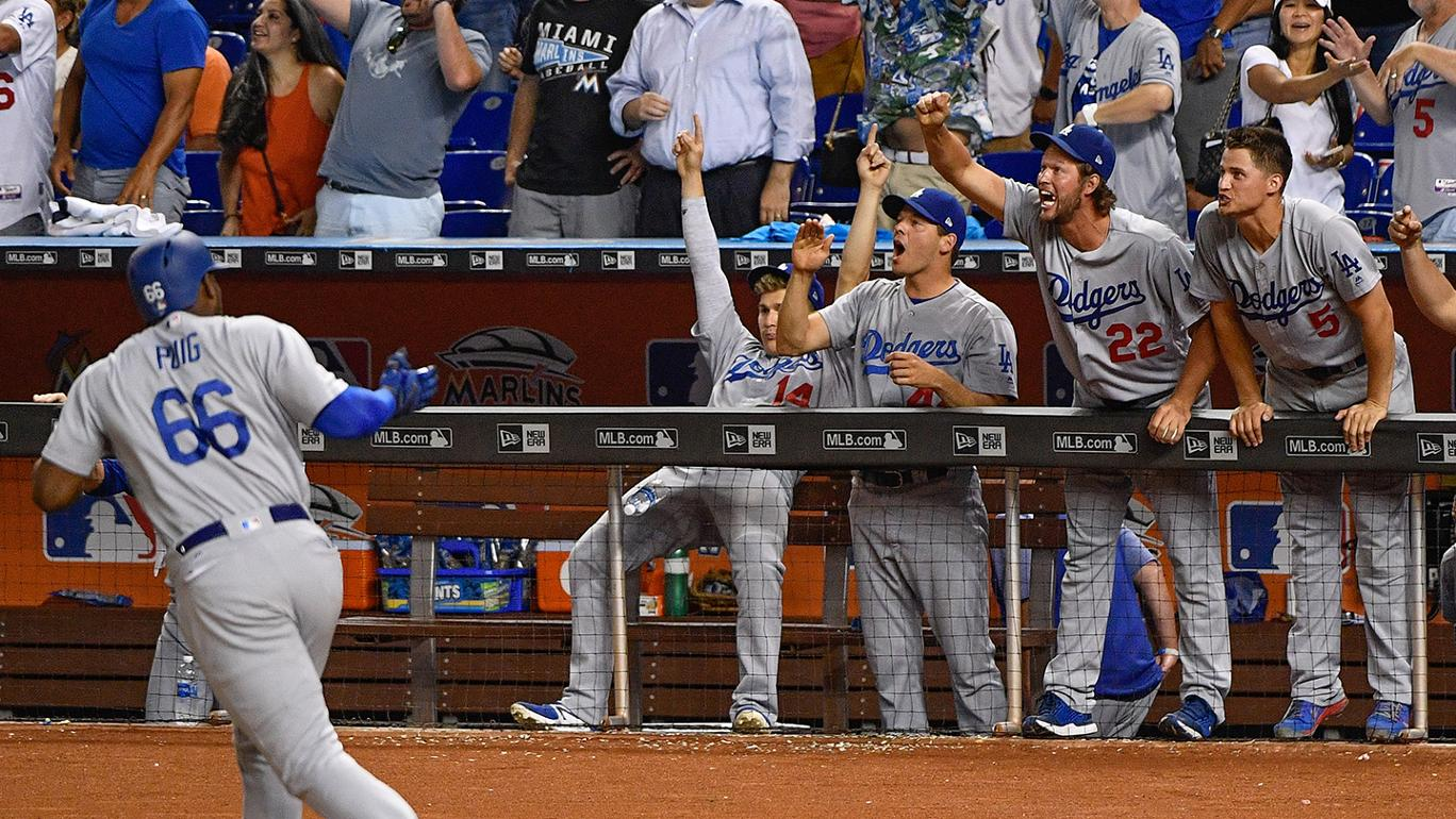 Dodgers vencem Marlins com dois HRs de Yasiel Puig