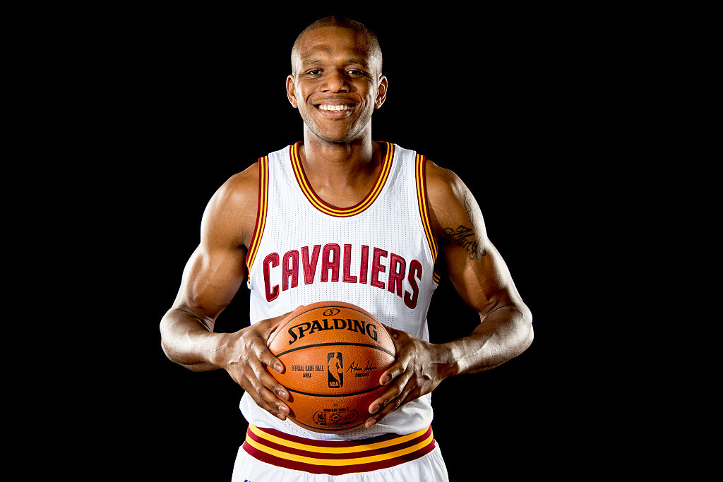 CLEVELAND, OH - SEPTEMBER 26: James Jones #1 of the Cleveland Cavaliers poses for a portrait during media day at Cleveland Clinic Courts on September 26, 2016 in Cleveland, Ohio.