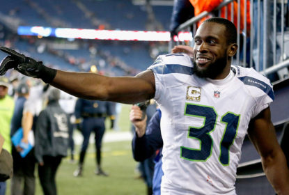 FOXBORO, MA - NOVEMBER 13: Kam Chancellor #31 of the Seattle Seahawks reacts following a game against the New England Patriots during a game at Gillette Stadium on November 13, 2016 in Foxboro, Massachusetts.