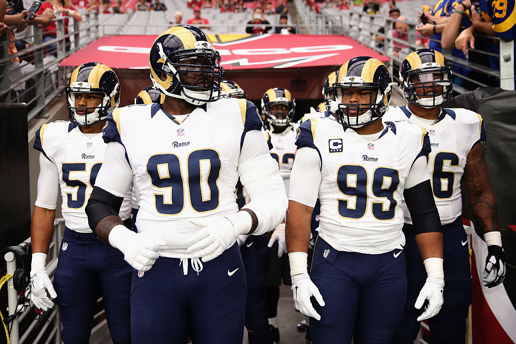 Dupla de defesa dos Rams Michael Brockers e Aaron Donald