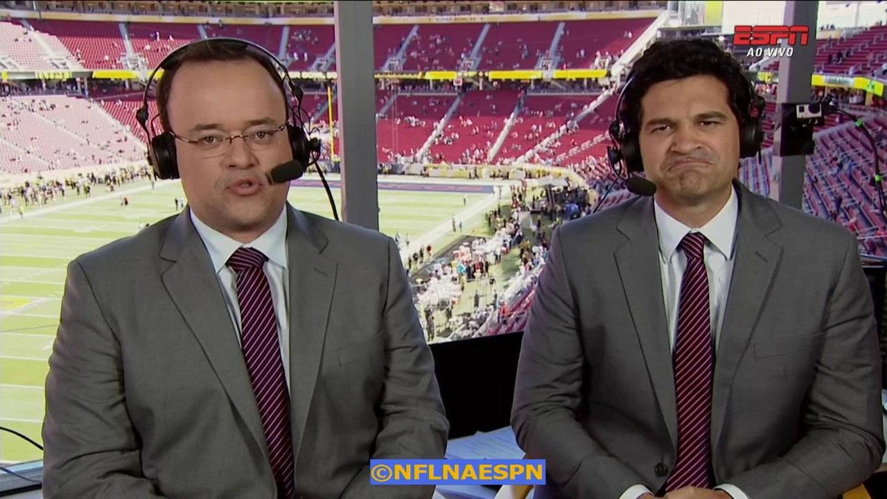 Everaldo Marques e Paulo Antunes, dupla principal dos jogos da NFL na ESPN