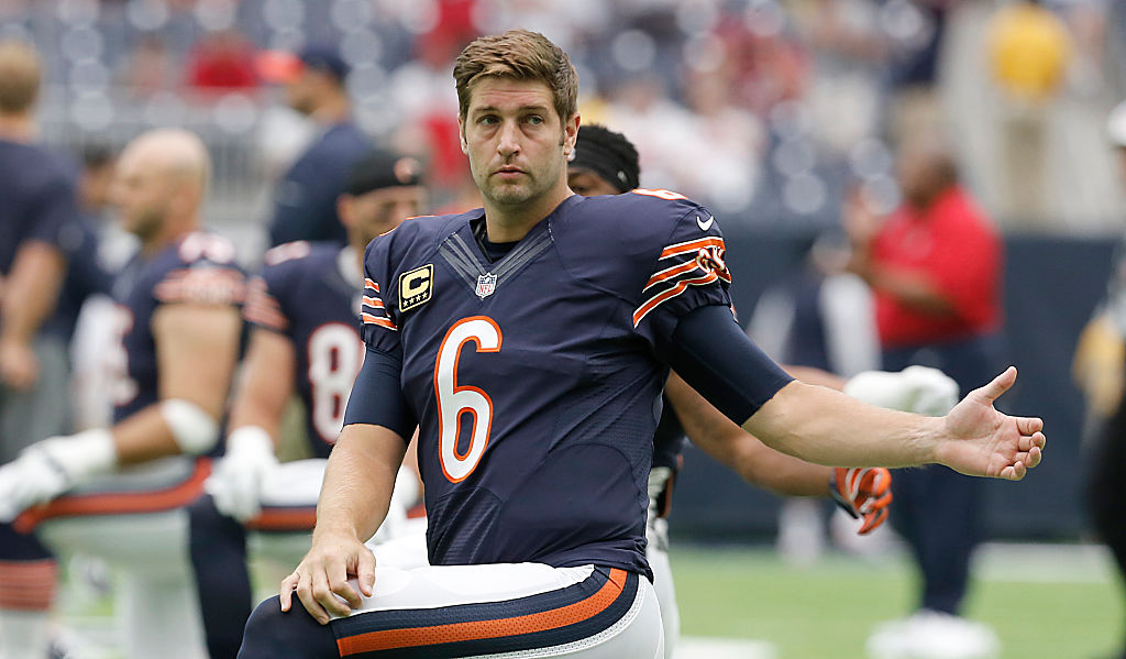 HOUSTON, TX   SEPTEMBER 11: Jay Cutler #6 Of The Chicago Bears Stretches Part 56