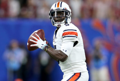 NEW ORLEANS, LA - JANUARY 02: John Franklin III #5 of the Auburn Tigers looks to throw a pass against the Oklahoma Sooners during the Allstate Sugar Bowl at the Mercedes-Benz Superdome on January 2, 2017 in New Orleans, Louisiana.