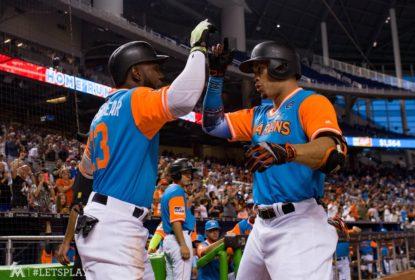 Giancarlo Stanton domina e Marcell Ozuna define vitória dos Marlins sobre os Padres - The Playoffs