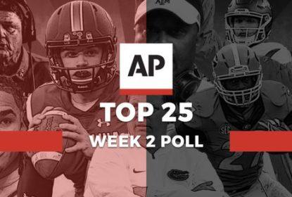 Após Semana 1, AP divulga ranking atualizado do College Football - The Playoffs