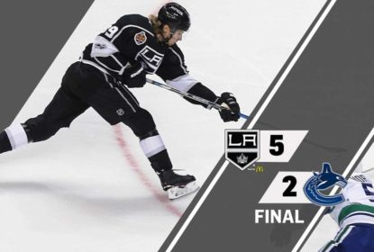 Na primeira partida da liga na China, Kings vencem Canucks - The Playoffs