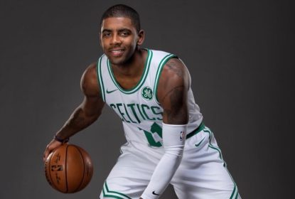 Kyrie Irving se apresenta ao Boston Celtics