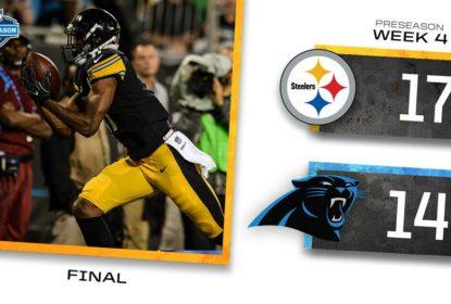 Pittsburgh Steelers vence Carolina Panthers no último jogo da pré-temporada - The Playoffs