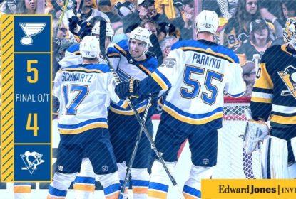Na partida de abertura da temporada, Blues vencem Penguins - The Playoffs