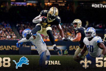 Em uma atuação de gala da defesa, Saints vencem Lions - The Playoffs